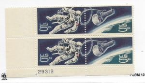 United States, 1331-32, 5c Accomplishments Space Plate Block of 4 #29312 LL, MNH