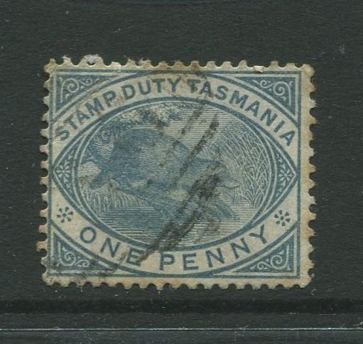 Tasmnia  #AR24  Used  1880  Single 1p Stamp