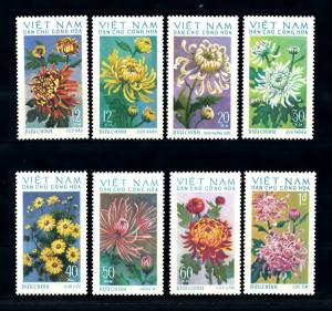 [93735] Vietnam North 1974 Flora Flowers Blumen Chrysanthemums  MNH