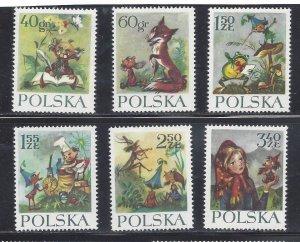 Poland MNH 1105-10 Fairy Tales