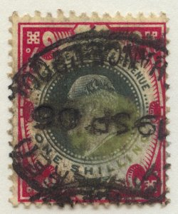 0686 Great Britain Scott #138a, 1-shilling red and deep green, used, SCV = $70