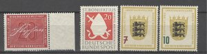 COLLECTION LOT # 4459 GERMANY 4 MH/UNG STAMPS 1954+ CV+$23