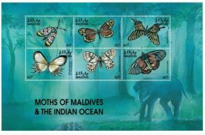 Maldives MNH S/S Moths Of The Indian Ocean