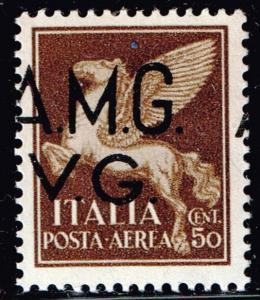 ITALY STAMP AMG VG OVPT SHIFTED ERROR MNH/OG