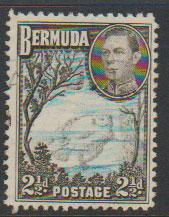 Bermuda SG 113a Fine Used  light blue & sepia black