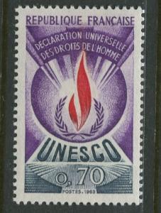 France Unesco - Scott 212 - Unesco Issue -1969 - MLH - Single 70c Stamp