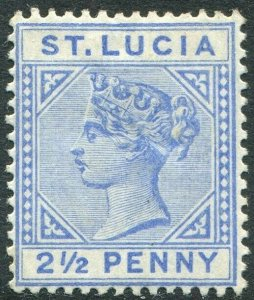 ST LUCIA-1891-98 2½d Ultramarine Sg 46 MOUNTED MINT V48995