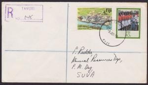 FIJI 1986 Registered cover to Suva ex TAVUKI................................5811