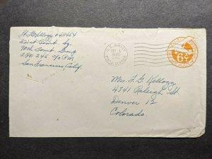 APO 245 IE SHIMA, RYUKYU ISLANDS 1945 WWII Army Cover 321st BOMB Sqdn, 90th Gp