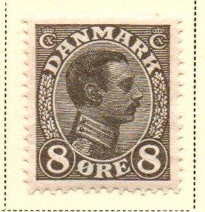 Denmark Sc 99 1920 8 ore dark gray Christian X  stamp mint