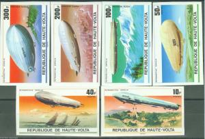 UPPER VOLTA ZEPPELIN   IMPERFORATED SET SC#395/97 C234/36 MINT NH