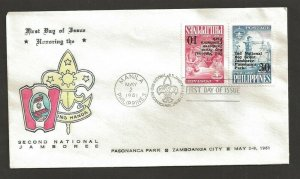 1961 Boy Scouts Philippines 2nd Jamboree FDC Pasananca Park cancel 1