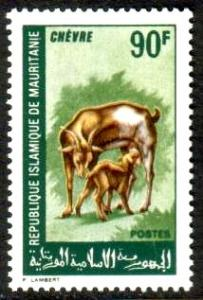Goat & Kid, Domestic Animal, Mauritania stamp SC#259 Mint