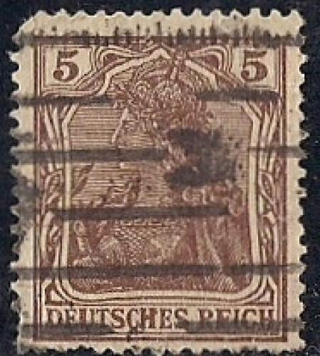 Germany #118  5 PF Germania, Brown, Stamp used VF