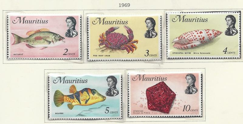 Mauritius MH 339-43 Fish