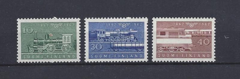 Finland, 388-90, Finnish State Railways - 100th Singles, **MNH**