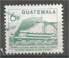 GUATEMALA, 1987, used 6c, Miguel Angel Asturias, Scott 450