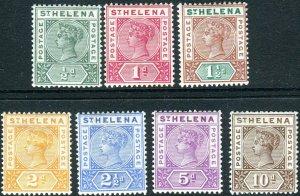 ST HELENA-1890-97 AVERAGE MOUNTED MINT set to 10d Sg 46-52 V42736