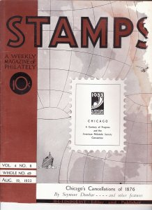Stamps Weekly Magazine of Philately August 19, 1933 Stamp Collecting Magazine
