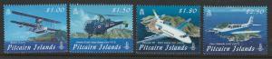 Pitcairn Islands Scott 692-695! Planes! Complete Set! MNH!