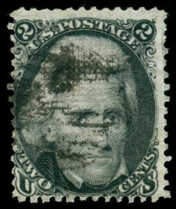 MOMEN: US STAMPS #84 D GRILL USED PSE CERT