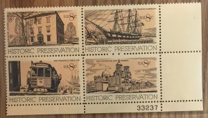 US #1443a PB MNHOG [Plate Block Mint No Hinge Original Gum] Historic Preservatio
