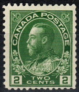 Canada #107 F-VF Unused CV $27.50 (P797)