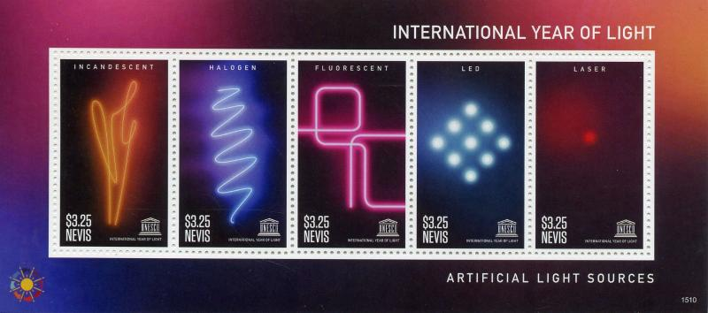 Nevis 2015 MNH UNESCO UN International Year of Light 6v M/S Science Stamps