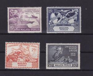 MALAYA PERAK 1949 U.P.U STAMPS SET MINT NEVER HINGED    R3682