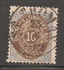 Danish West Indies  SC  10  Used