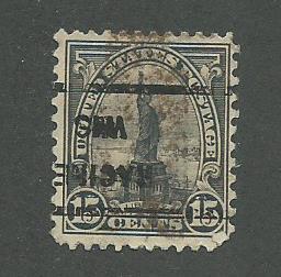 1931 USA Racine, Wis. (inverted)  Precancel on Scott Catalog Number 696
