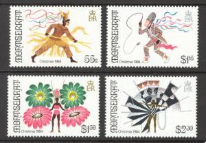 Montserrat Sc# 547-550 MH 1984 Christmas Carnival