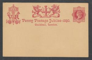 Great Britain H&G 19 mint 1890 1p QV Penny Postage Jubilee Postal Card
