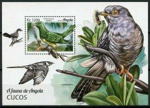 Angola 2018 MNH Cuckoos Cuckoo 1v M/S Birds Stamps