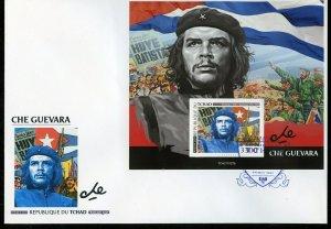 CHAD  2021 CHE GUEVARA  SOUVENIR SHEET FIRST DAY COVER