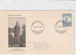 denmark 1954  stamps cover ref 19618