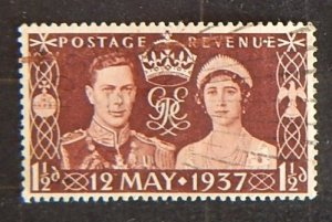 Great Britain, 1937, Coronation of King George VI, SG #461, (1975-T)