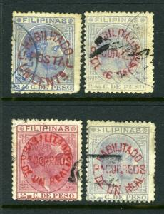 Philippines #101-104 Overprint issues - NICE!!!  Scarce issues