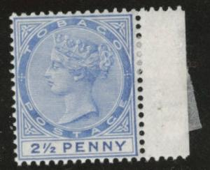 Tobago Scott 18 MH* Queen Victoria 1883 CA wmk 2
