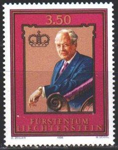 Liechtenstein. 1986. 903. Prince of Liechtenstein. MNH.