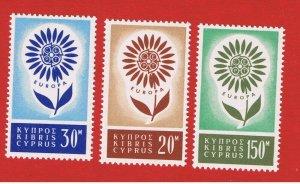 Cyprus #244-246  MNH OG  Europa