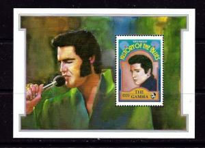 Gambia 1191 NH 1992 Elvis Presley Souvenir Sheet
