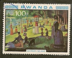 Rwanda   Scott  991   Painting     Used