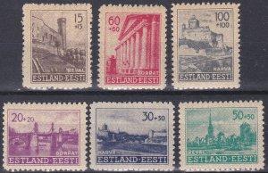 Estonia Sc #NB1-NB6 Mint LH German Occupation