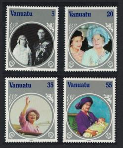 Vanuatu Life and Times of Queen Elizabeth the Queen Mother 4v SG#406-409