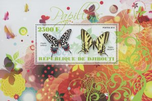 Butterflies Papilio Antenor Souvenir Sheet Mint NH