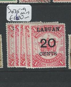 LABUAN  (PP2701B) SURCHARGE SET SG 75-9  MOG