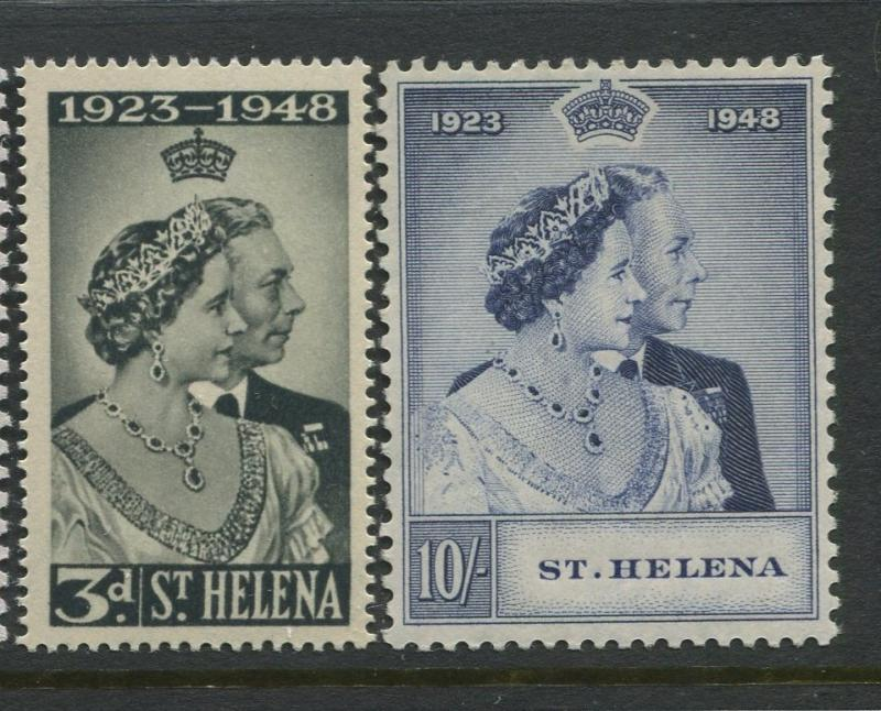 St Helena - Scott 130-131 - Silver Wedding Issue -1948 -MNH-Set of 2 Stamps