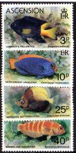 ASCENSION 262-5 MNH SCV $3.15 BIN $1.90 FISH