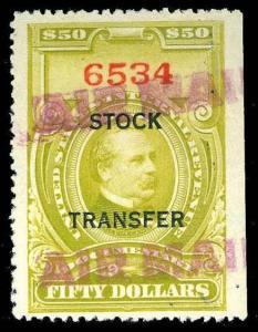 U.S. REV. STOCK TRANSFER RD20  Used (ID # 84817)